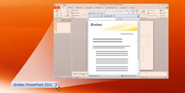 Øvelse i PowerPoint 2010