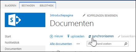 Een sitebibliotheek synchroniseren