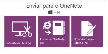 A ferramenta Enviar para o OneNote