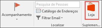 Botão de armazenamento no Outlook
