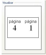 Visualização da Configuração de Impressão Livreto