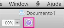 Clique no ponto de interrogação para abrir a Ajuda do Mac Office