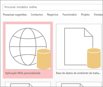 Aplicação Web personalizada no ecrã de arranque.