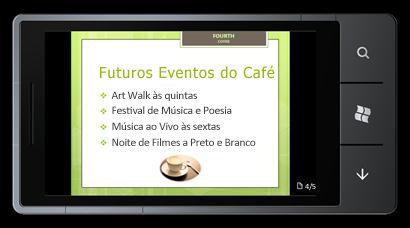PowerPoint Mobile 2010 para o Windows Phone 7: Editar e ver a partir do seu telemóvel