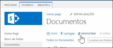 Sincronizar uma biblioteca de sites