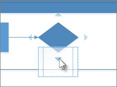 Largar forma sobre seta de ligação automática