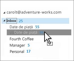 Particularizarea inboxului