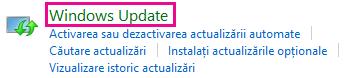 Linkul Windows Update din Panoul de control Windows 8