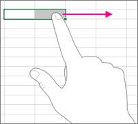 Tragerea cu degetul pe ecran