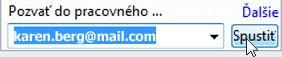 Pozvanie do pracovného priestoru použitím e-mailovej adresy