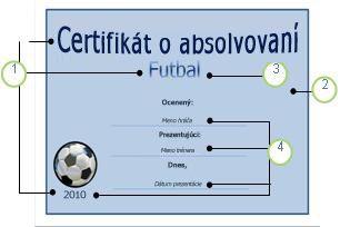 Šablóna Futbal