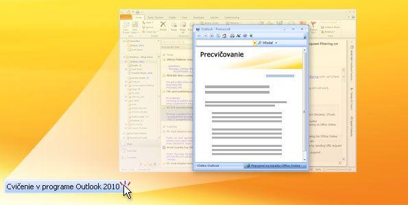 Cvičenie v programe Outlook 2010