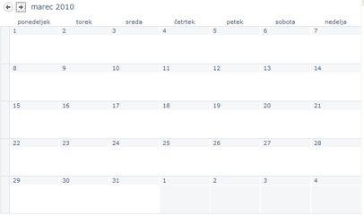 Pogled koledarja