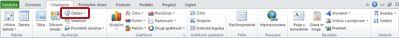 Zavihek »Vstavljanje« z označenimi oblikami v Excelu 2010.