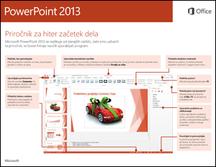 Priročnik za hiter začetek dela za PowerPoint 2013