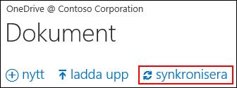 Synkronisera OneDrive för företag eller webbplatsbiblioteket till datorn