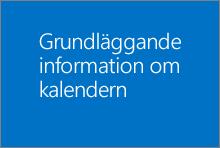 Grundläggande information om kalendern