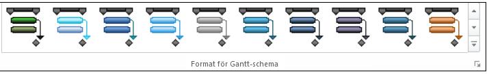 Format för Gantt-schema