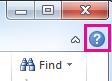 Klicka på frågetecknet för att öppna hjälpinformationen i Office