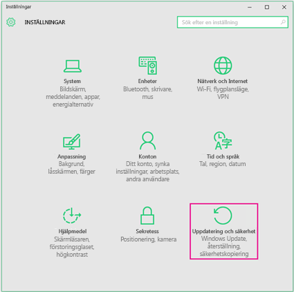 Konfigurera Windows-uppdateringar i Windows 10