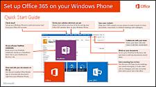 ใช้คู่มือเริ่มต้นใช้งานด่วนการตั้งค่า Office 365 บน Windows Phone ของคุณ