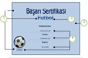 Futbol şablonu