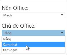Chọn một Chủ đề Office khác