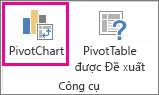 Nút PivotChart trên tab Phân tích