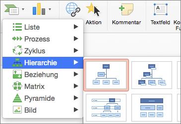 Erstellen eines Organigramms mit SmartArt in Office 2016 ...