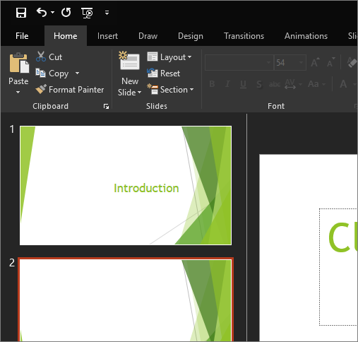 Change the look and feel of Office 2016 for Windows with Office themes
