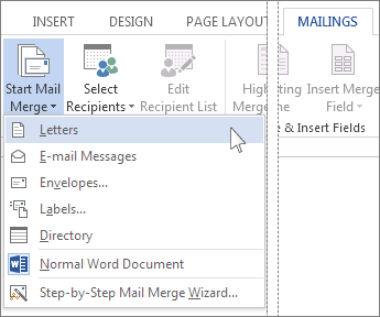 Use Mail Merge To Personalize Letters
