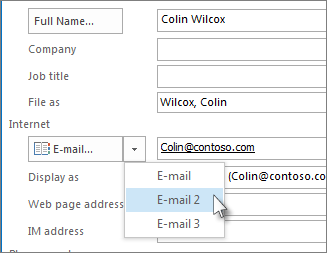 how to add a contact to windows live mail