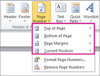 how to add page numbers to a pdf document