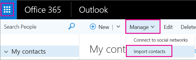 how to get outlook to look at icloud contacts