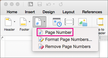 how to add page number and other footer