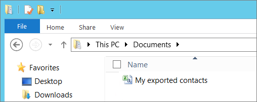 Type a name for the file you're exporting
