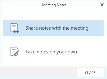 Sharing notes