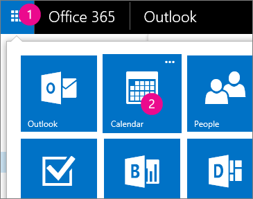 Outlook Web App, open your Calendar