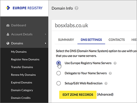 how to create my own domain name and host