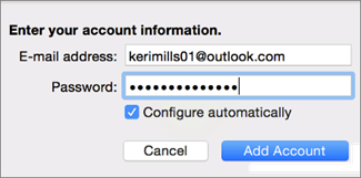 Add An Email Account To Outlook 2016 For Mac Office Support