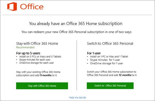 Switch from office 365 home to 365 personal microsoft community - Installer office 365 personnel ...