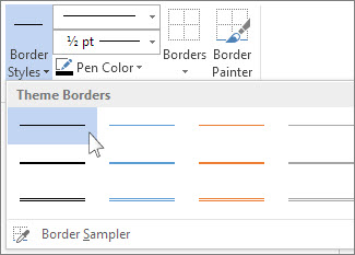 Add a border to a table - Office Support