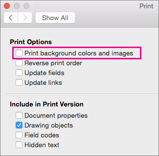 Print The Background When You Print A Document In Word