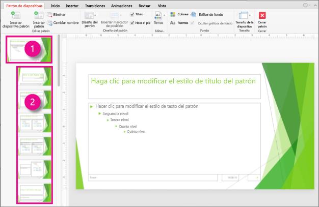 patrones de diapositivas en powerpoint 2016 para mac