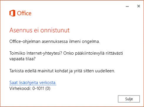 outlook kirjautuminen ei onnistu Oulu