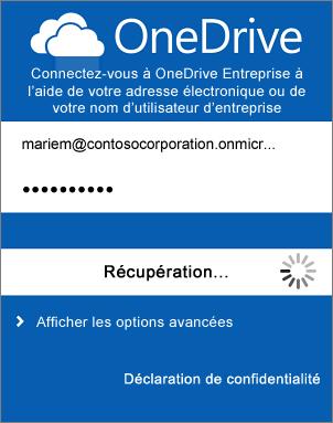 désinstallez l'application onedrive à partir de Windows 8.1