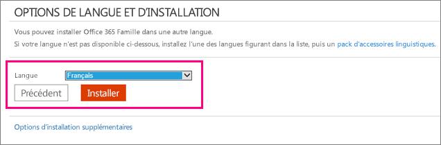 Choisir ou changer la langue de votre installation d office support office - Installer office sur windows 8 ...