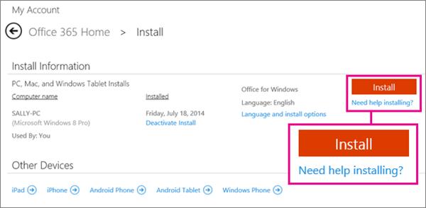 Unduh dan instal Office 365 Home, Personal, atau University di PC atau ...