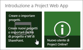 creare un progetto supporto di office